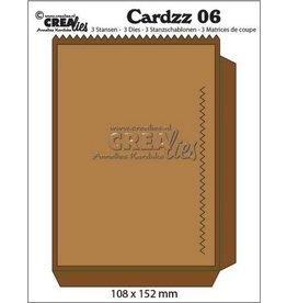 Crealies Crealies Cardzz nr 06 zak kaart CLCZ 06 108x15mm