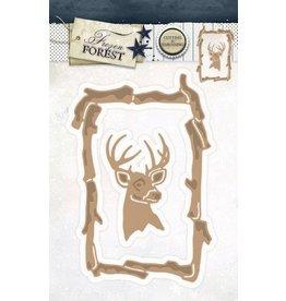 Studio Light Studio Light Embossing Die Cut Stencil Frozen Forest nr 18 STENCILFF18