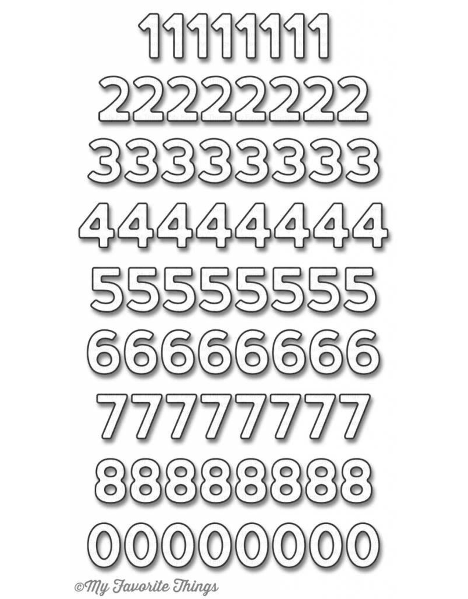 My Favourite Things My Favorite Things Die-Namics Confetti Numbers (MFT-1139)