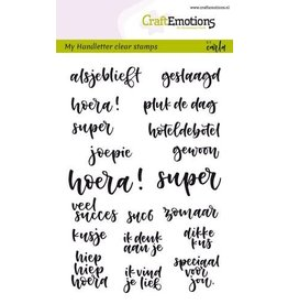 Craft Emotions CraftEmotions clearstamps A6 - handletter - geluksmomenten (NL) Carla Kamphuis