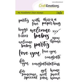 Craft Emotions CraftEmotions clearstamps A6 - handletter - card moments (Eng) Carla Kamphuis