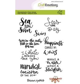 Craft Emotions CraftEmotions clearstamps A6 - Ocean quotes (Eng) Carla Creaties