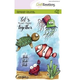 Craft Emotions CraftEmotions clearstamps A6 - Ocean 3 Carla Creaties