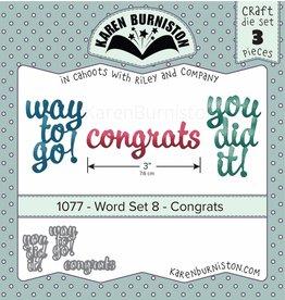 Karen Burniston Karen Burniston Word set 8  Congrats 1077