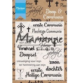 Marianne Design Marianne D Clear Stamp Doop en communie (NL) CS1005
