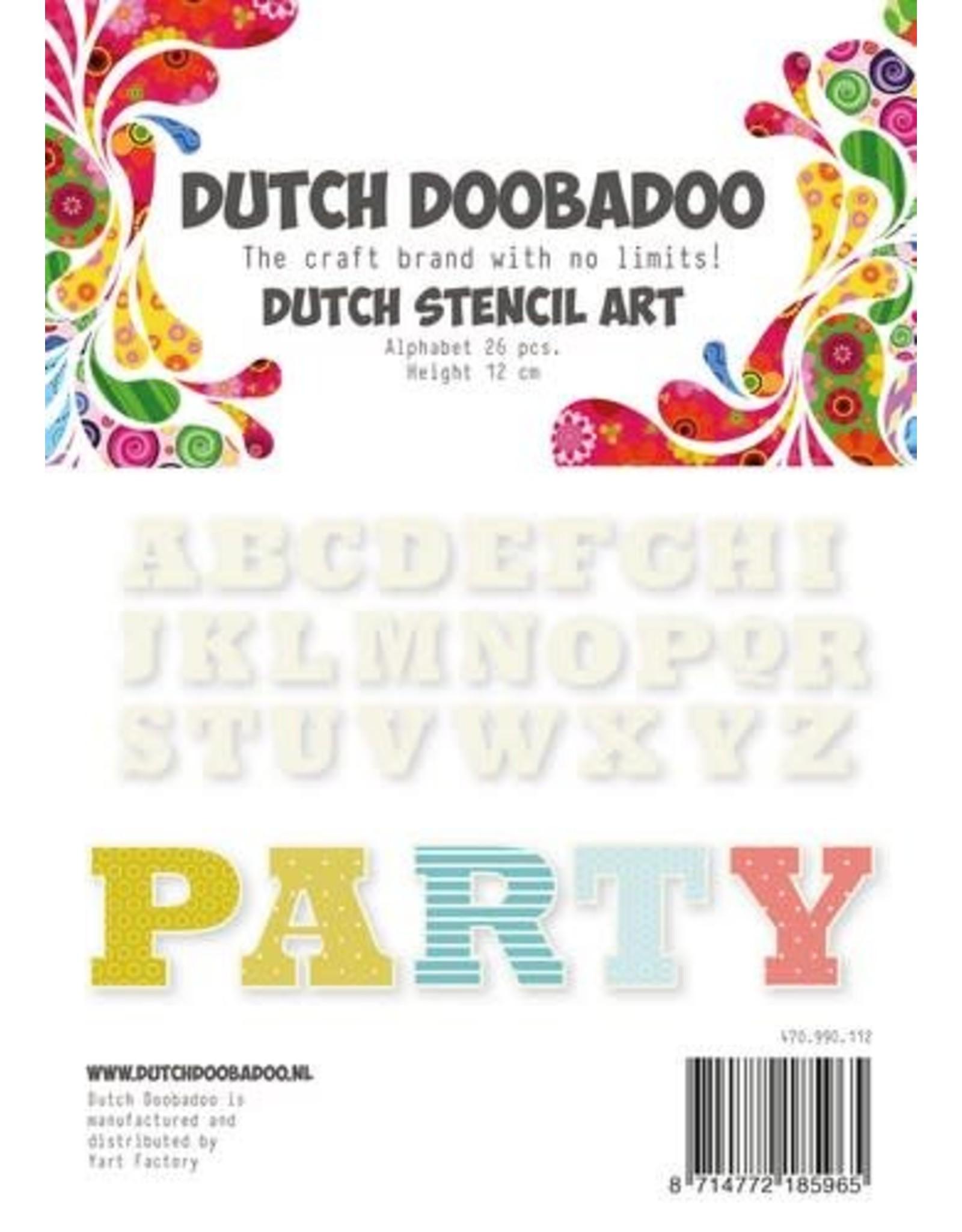 Dutch Doobadoo Dutch Doobadoo Dutch Stencil Art Alfabet 4 (120 mm) 470.990.112