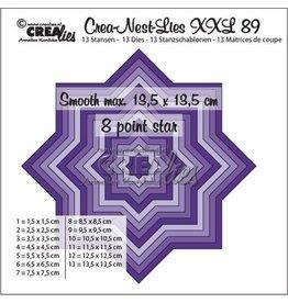 Crealies Crealies Crea-Nest-Lies XXL no 89 gladde 8 puntige ster CLNestXXL89 13,5x13,5 cm