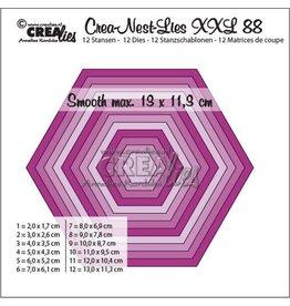 Crealies Crealies Crea-Nest-Lies XXL no 88 gladde zeshoek CLNestXXL88 13x11,3 cm