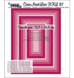 Crealies Crealies Crea-Nest-Lies XXL no 87 gladde rechthoeken halve cm CLNestXXL87 12,5x16,5 cm