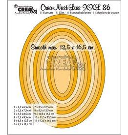 Crealies Crealies Crea-Nest-Lies XXL no 86 gladde ovalen halve cm CLNestXXL86 12,5x16,5 cm