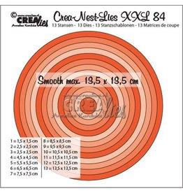 Crealies Crealies Crea-Nest-Lies XXL no 84 gladde cirkels halve cm CLNestXXL84 13,5x13,5 cm