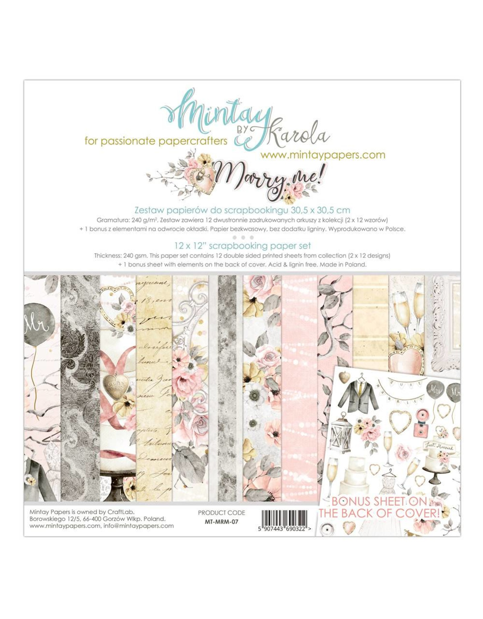 "Mintay by Karola Mintay by Karola  Marry Me  12""x 12"" (30 x 30)"