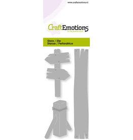 Craft Emotions CraftEmotions Die - wegwijzer, meerpaal Card 5x10cm