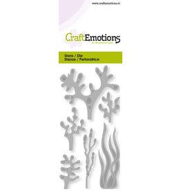 Craft Emotions CraftEmotions Die - zeewier, koraal Card 5x10cm