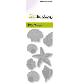 Craft Emotions CraftEmotions Die - schelpen en zeester Card 5x10cm