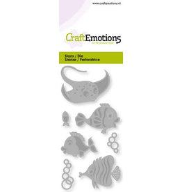 Craft Emotions CraftEmotions Die - tropische vissen Card 5x10cm