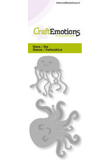 Craft Emotions CraftEmotions Die - kwalletjes Card 5x10cm