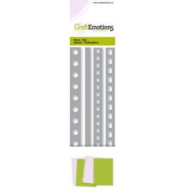 Craft Emotions CraftEmotions Die - Cutting border - 4x pagina perforatie Card 5,0x16,5cm - 15,2cm