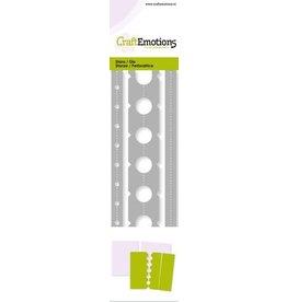 Craft Emotions CraftEmotions Die - ticket perforaties Card 5,0x16,5cm - 13,5cm