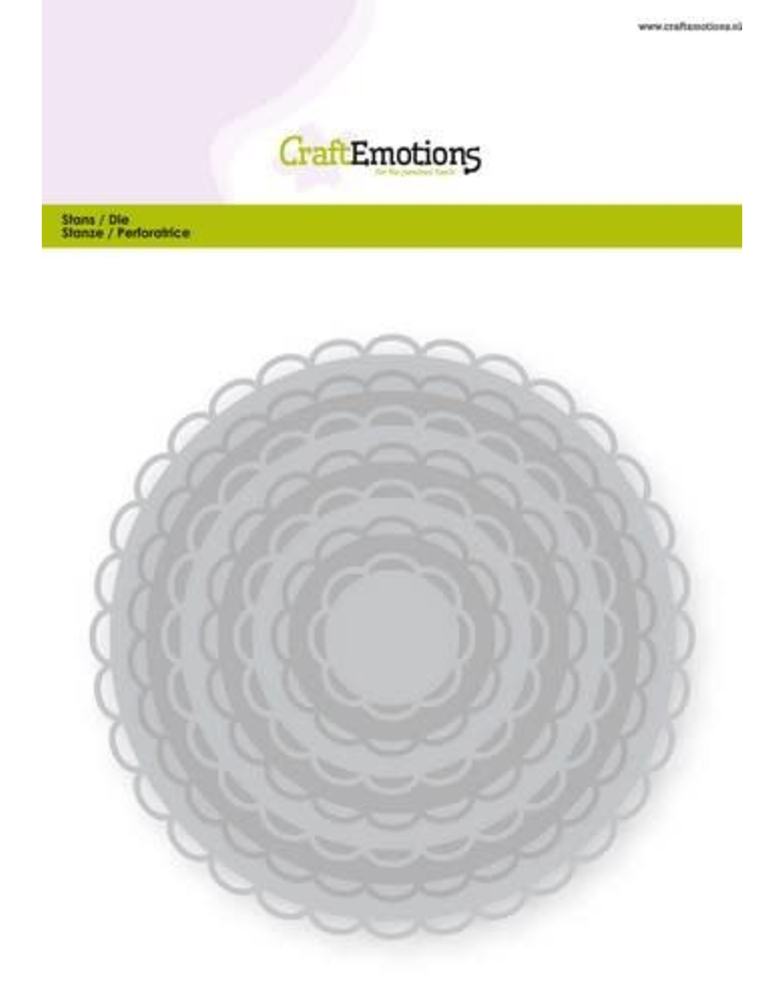 Craft Emotions CraftEmotions Big Nesting Die - cirkels scalop XL open Card 150x160 3,6-13,0cm