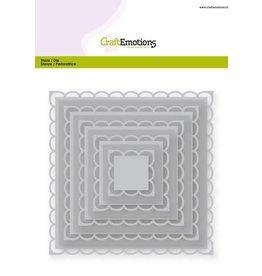 Craft Emotions CraftEmotions Big Nesting Die - vierkanten scalop XL open Card 150x160 2,2-12,8cm