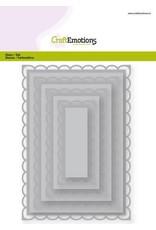 Craft Emotions CraftEmotions Big Nesting Die - rechthoeken scalop XL open Card 150x160 6,8-15,0cm