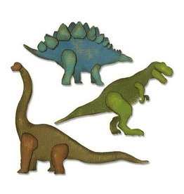 Sizzix Thinlits Sizzix Thinlits Die Set - 3PK Prehistoric 664155 Tim Holtz