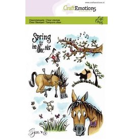 Craft Emotions CraftEmotions clearstamps A6 - Sjors 3 Spring Carla Creaties