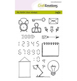 Craft Emotions CraftEmotions clearstamps A6 - Bullet Journal - images-digits Carla Kamphuis