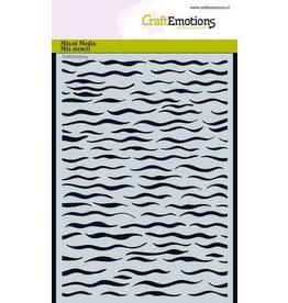 Craft Emotions CraftEmotions Mask stencil - golven A5