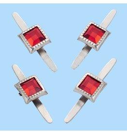 Hobby fun Decoratieve splitpennen, rechthoekig, buidel met 10 st, rood, 5 mm