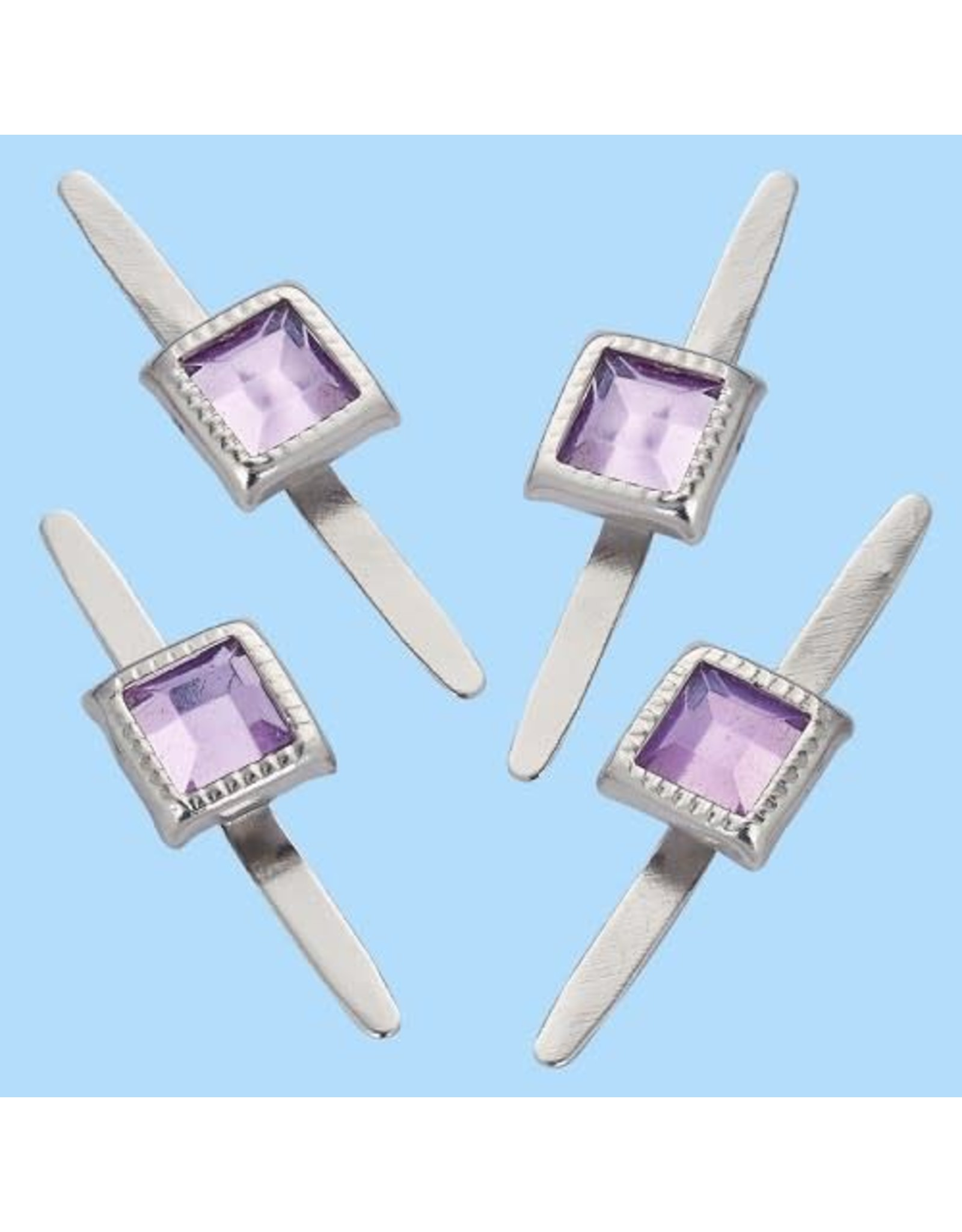 Hobby fun Decoratieve splitpennen, rechthoekig, buidel met 10 st, lavendel, 5 mm
