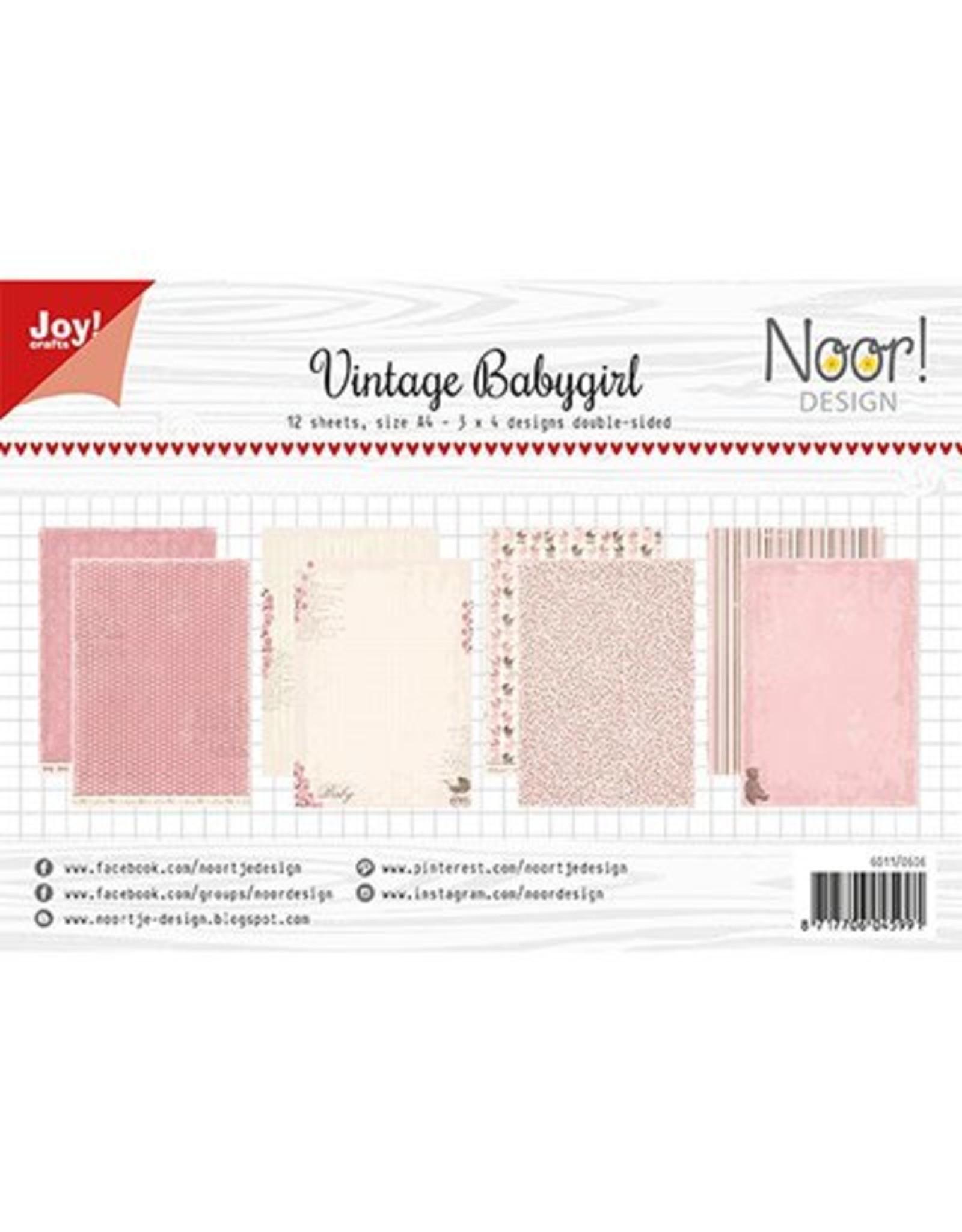 Joy Craft Joy Crafts Papierset - Design Vintage Babygirl 6011/0606