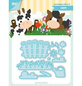 Joy Craft Joy Crafts Snij-stencils - Tumble Friends - Farm 6002/1193