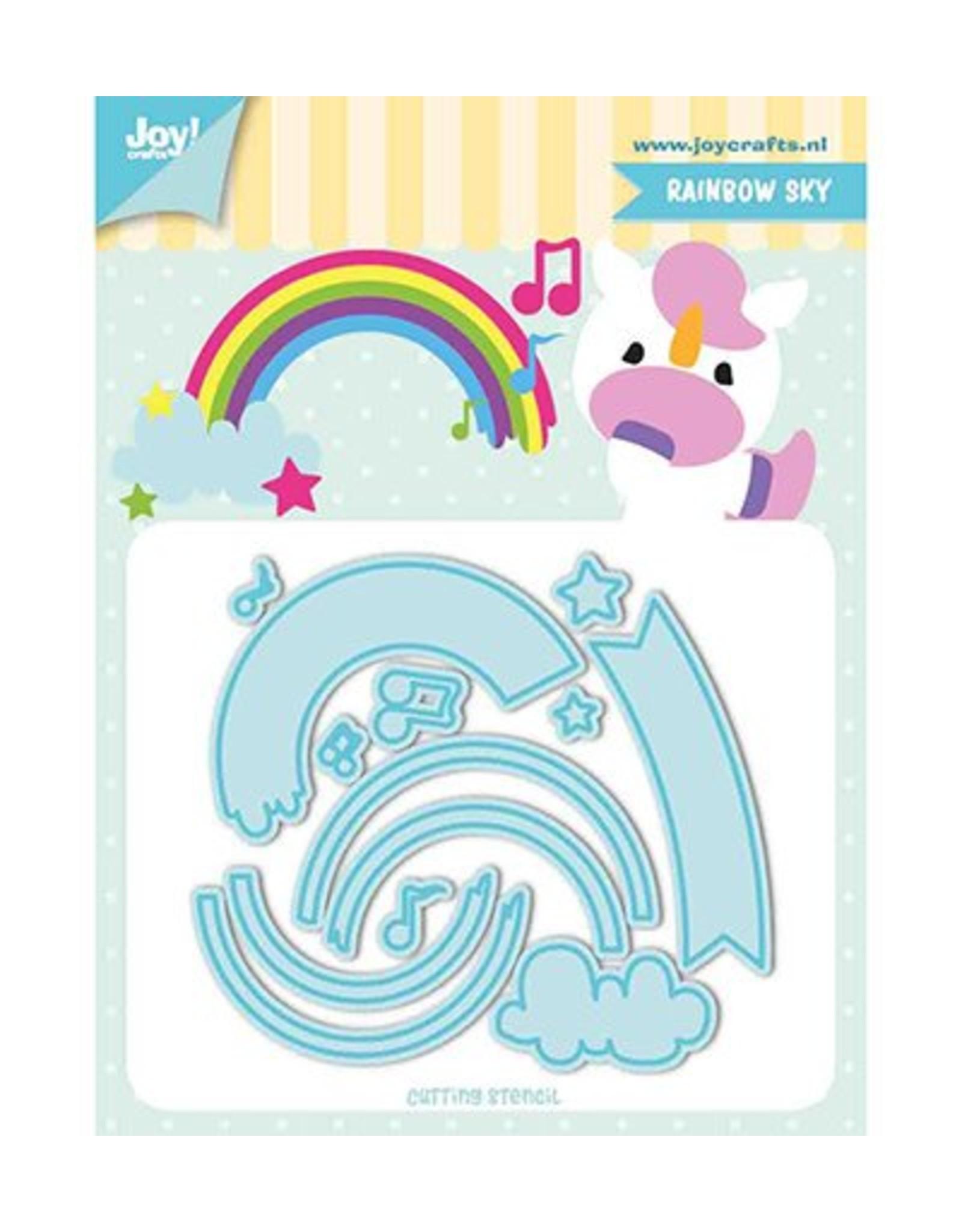 Joy Craft Joy Crafts Snij-stencils - Tumble Friends - Rainbow-sky 6002/1195