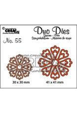 Crealies Crealies Duo Dies no. 55 Bloemen 24 CLDD55 30x30 mm - 41x41 mm