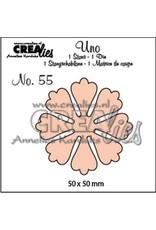 Crealies Crealies Uno nr. 55 bloemen 24 CLUno 55 50x50 mm