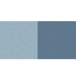 Dini Design Dini Design Scrappapier 10 vl Stippen bloemen - Zweeds blauw 30,5x30,5cm #2006