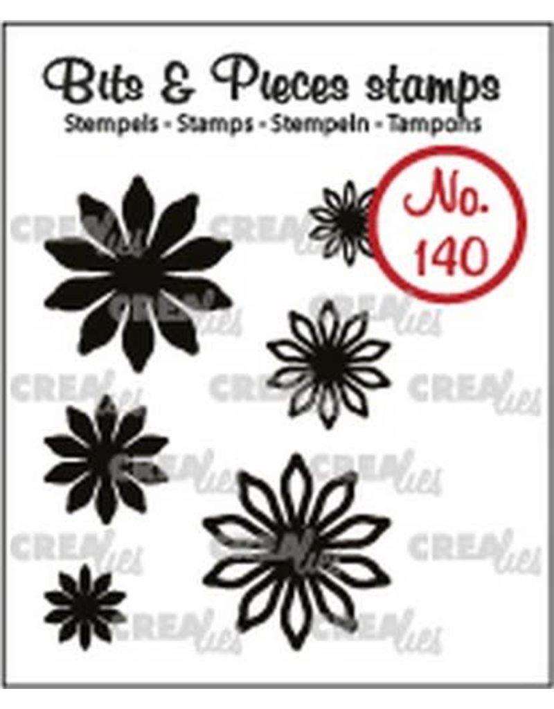 Crealies Crealies Clearstamp Bits & Pieces 6x Mini Bloemen 17 CLBP140 max. 20 mm