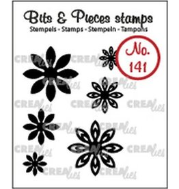 Crealies Crealies Clearstamp Bits & Pieces 6x Mini Bloemen 18 CLBP141 max. 20 mm