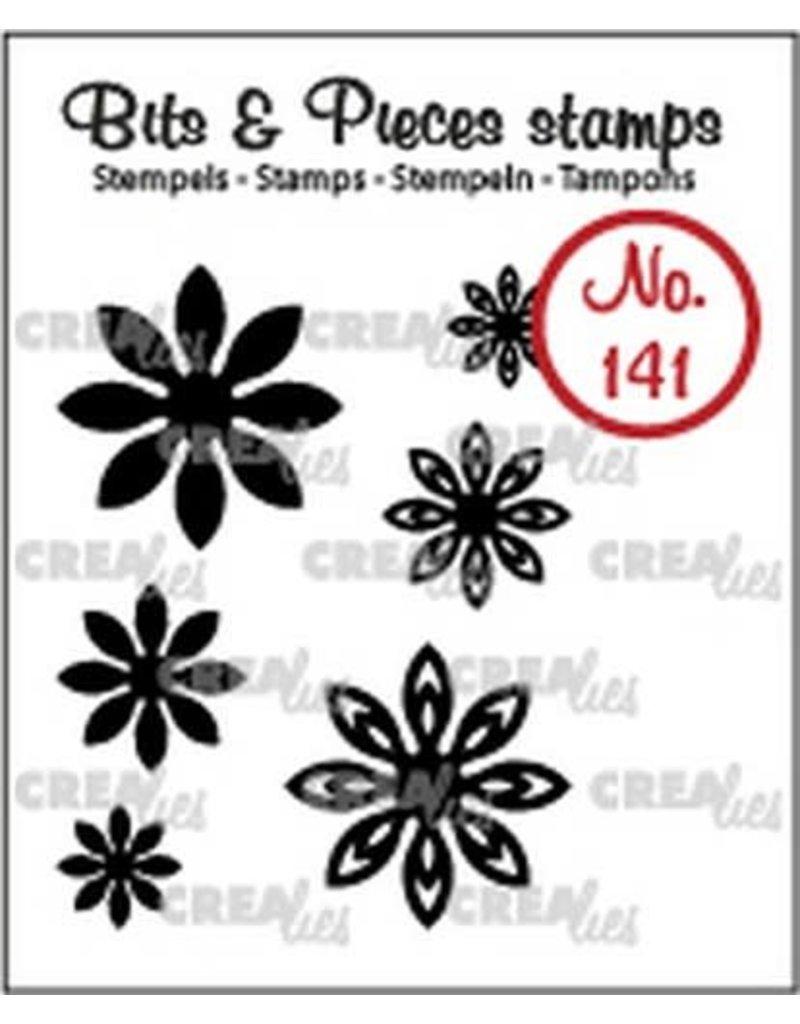 Crealies Crealies Clearstamp Bits & Pieces 6x Mini Bloemen 18 CLBP141 max. 20 mm
