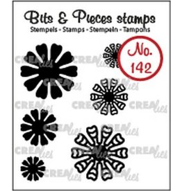Crealies Crealies Clearstamp Bits & Pieces 6x Mini Bloemen 19 CLBP142 max. 20 mm