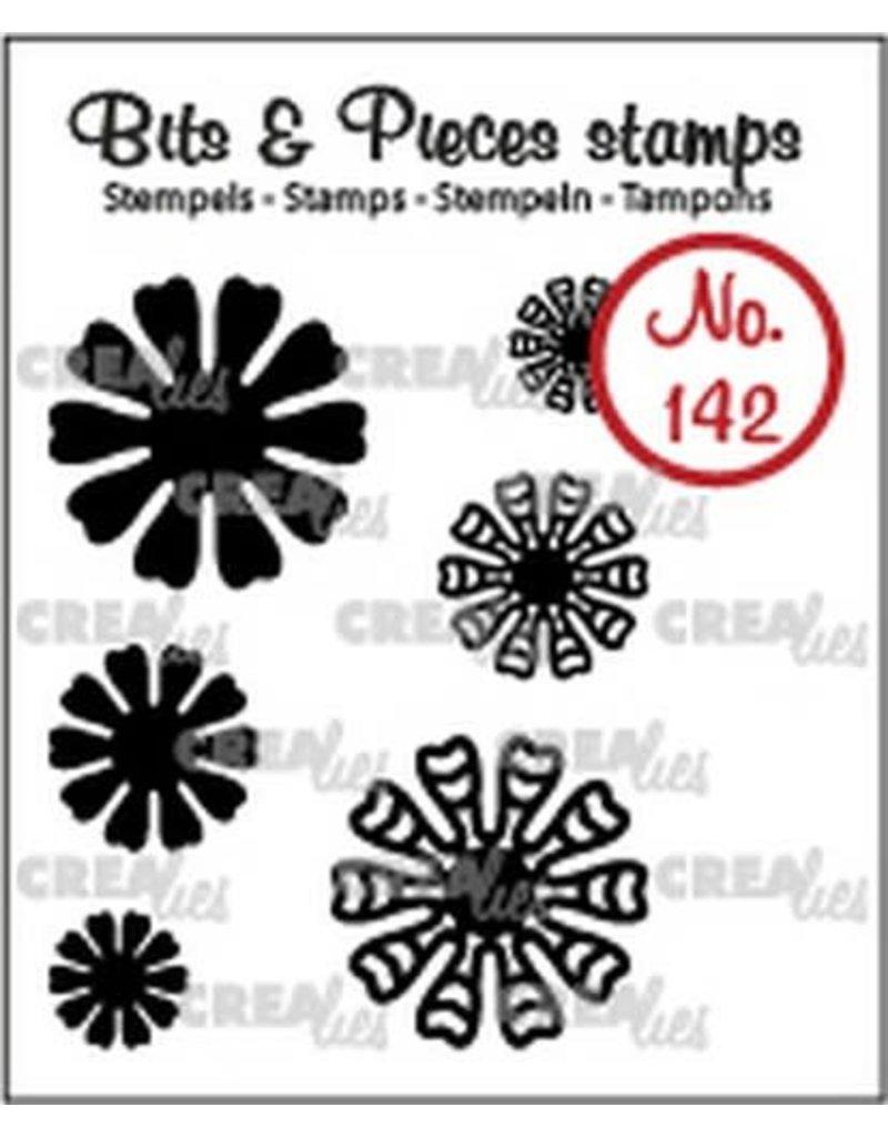 Crealies Crealies Clearstamp Bits & Pieces 6x Mini Bloemen 19 CLBP142 max. 20 mm