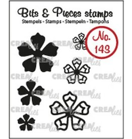 Crealies Crealies Clearstamp Bits & Pieces 6x Mini Bloemen 21 CLBP143 max. 20 mm