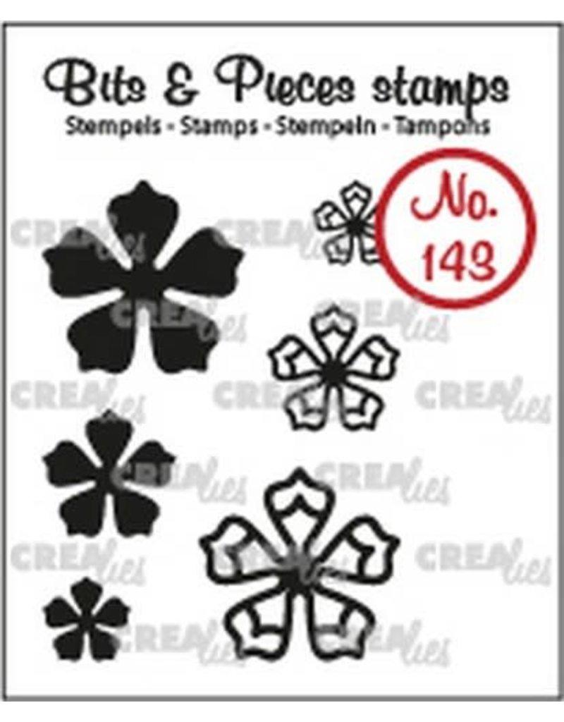 Crealies Crealies Clearstamp Bits & Pieces 6x Mini Bloemen 21 CLBP143 max. 20 mm