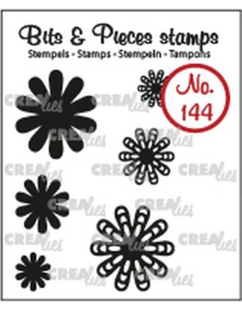 Crealies Crealies Clearstamp Bits & Pieces 6x Mini Bloemen 22 CLBP144 max. 20 mm