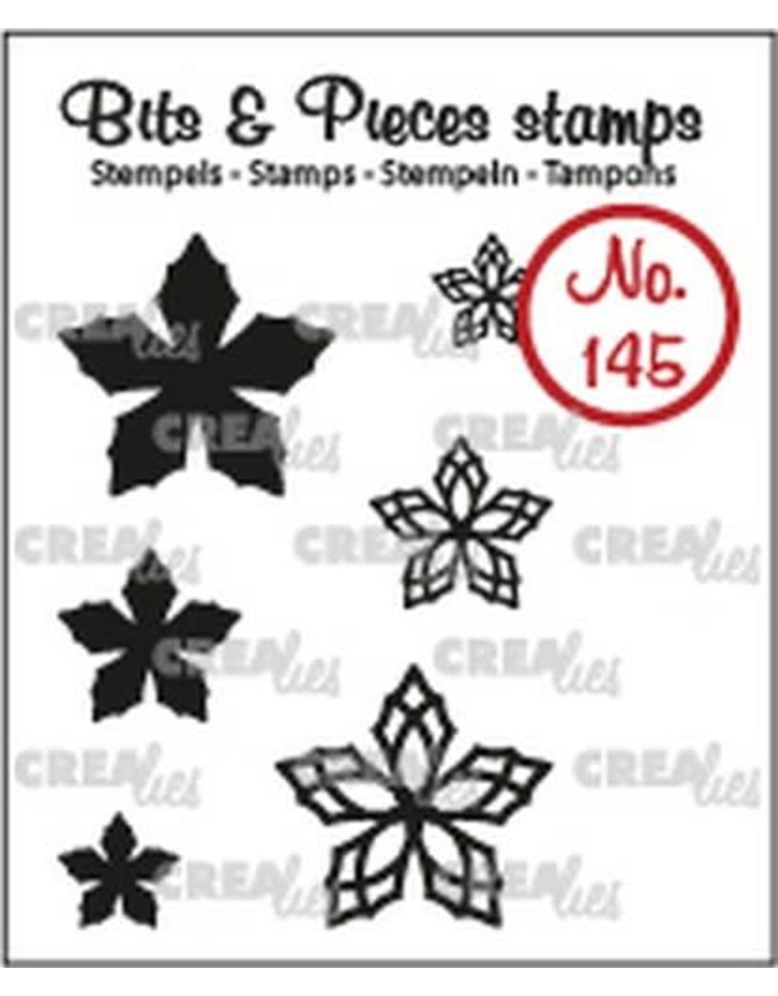 Crealies Crealies Clearstamp Bits & Pieces 6x Mini Bloemen 23 CLBP145 max. 20 mm