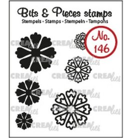 Crealies Crealies Clearstamp Bits & Pieces 6x Mini Bloemen 24 CLBP146 max. 20 mm