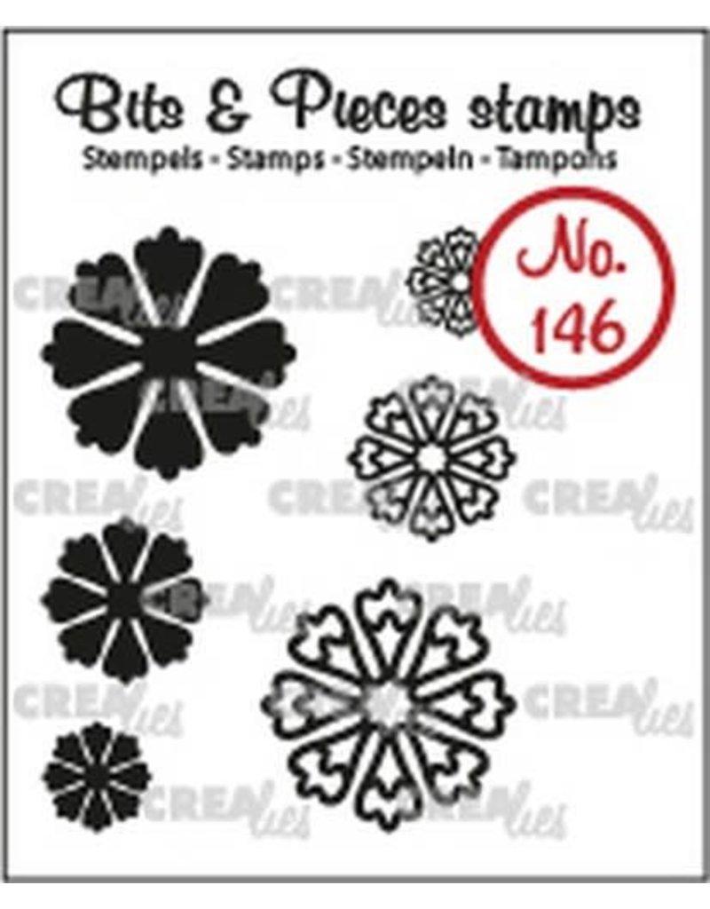 Crealies Crealies Clearstamp Bits & Pieces 6x Mini Bloemen 24 CLBP146 max. 20 mm