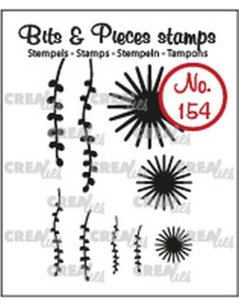 Crealies Crealies Clearstamp Bits & Pieces 9x Mini Bloemen 20 +Blad 9 CLBP154 max. 20x20 mm